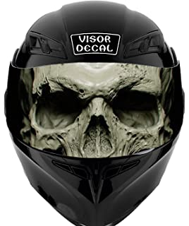 V26 Skull VISOR TINT DECAL Graphic Sticker Helmet Fits: Icon Shoei Bell HJC Oneal Scorpion