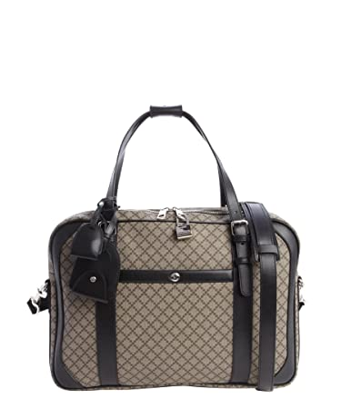 a5c0504d4bf742 Amazon.com | Gucci Men's Beige Ebony And Black Canvas Diamante Print  Weekender | Messenger Bags