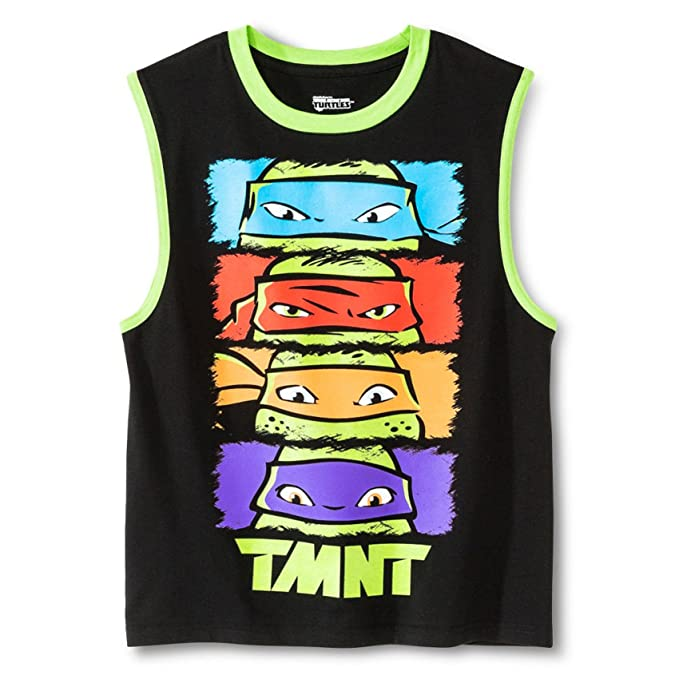 Amazon.com: Teenage Mutant Ninja Turtles Boys Top GLOW IN ...