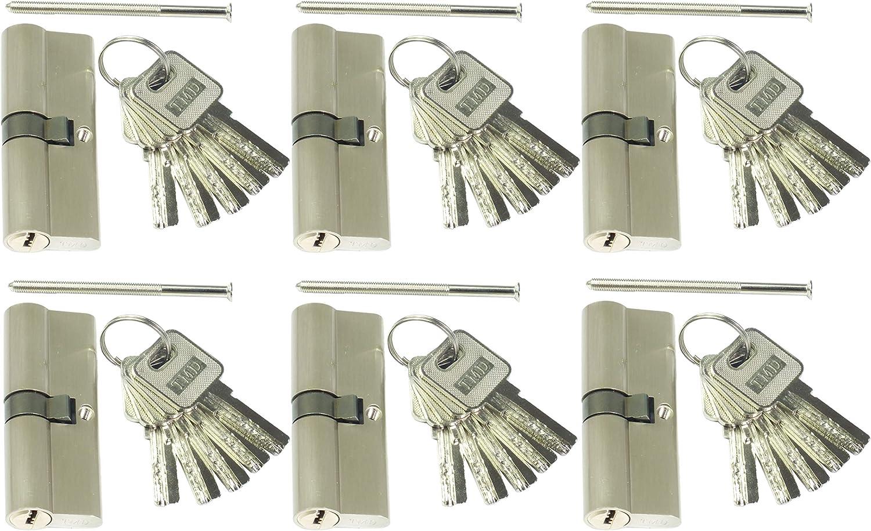 KAWE Türschloss Schließzylinder 30 35 65mm mit 16 Schlüsseln !