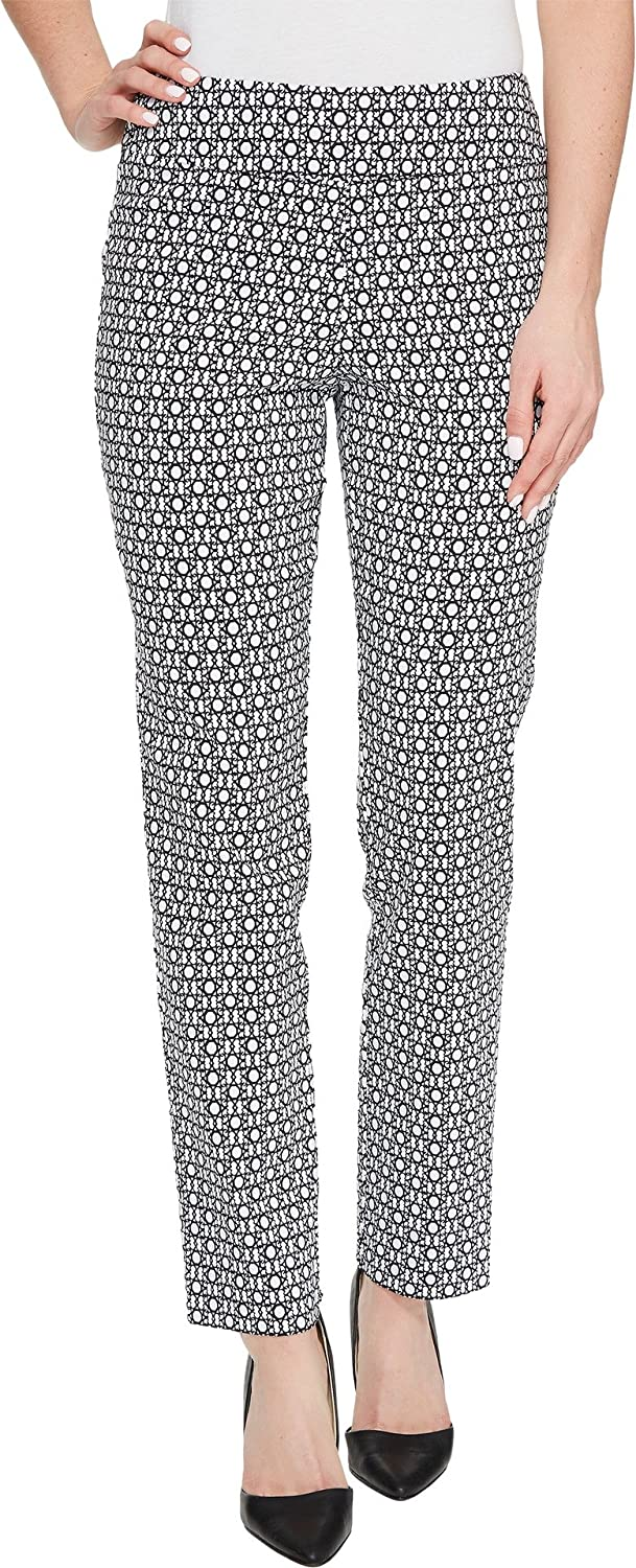 Krazy Larry PANTS レディース B01N6U3DPK 22 30|White Chain Print White Chain Print 22 30