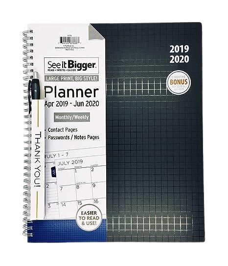 Amazon.com: PlanAhead See It Bigger Abr 2019 - Jun 2020 ...