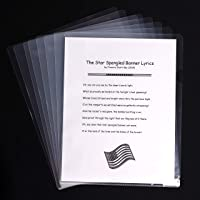 14-Pack US Letter-Size Clear Document Folder, Project Pockets by Office Square