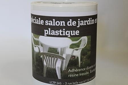 Peinture pour salon de jardin en plastique (Vert mousse) 1 L