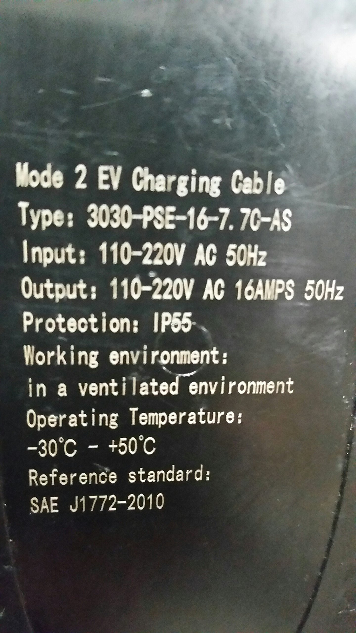EV Charge Solutions Portable Electric Vehicle Charger EVSE 220-240v Level 2 Nema 6-20 Plug To J1772 25' Station for EV Charging (1 Year Warranty!) 2-Day Priority Shipping !!! by evCHARGEsolutions.com (Image #7)