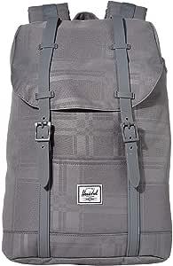 Herschel Retreat Backpack, Quiet Shade Plaid, Mid-Volume 14.0L