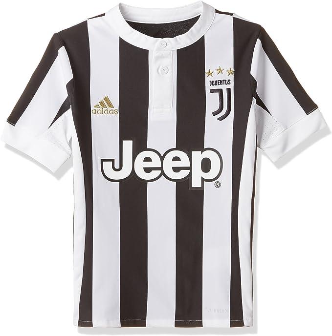 adidas Juve H JSY Y T Shirt pour Enfant, bébé, AZ8703, BlancNoir
