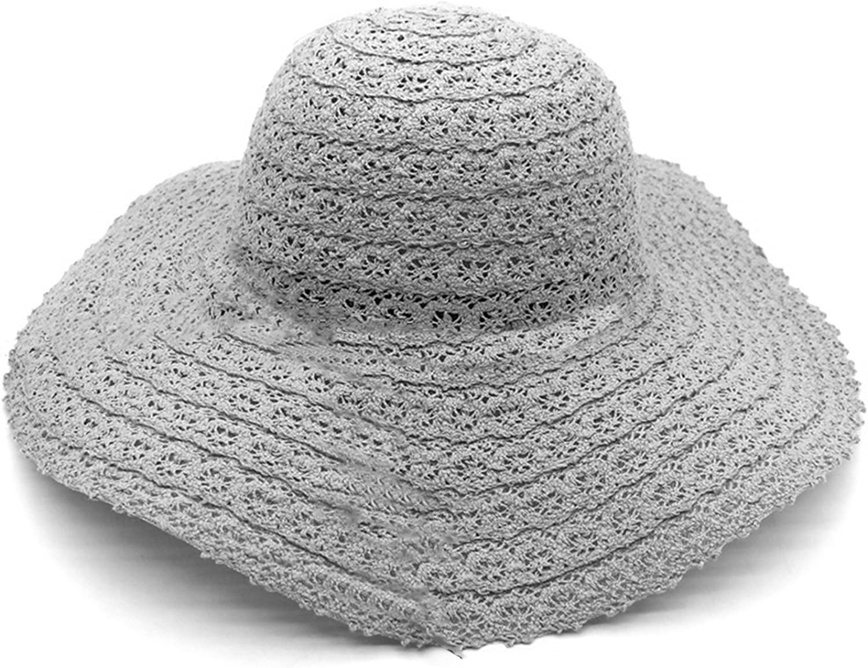 Straw Sun Hat Women Girls Summer Bowknot Bucket Hat Foldable Fodera Beach Cap