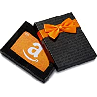 """Amazon.ca Gift Card in a Black Gift Box - """"A"""" Smile Icons"""