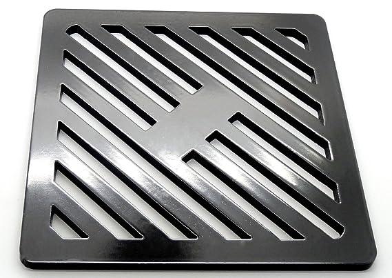 Reiben wie Gusseisen st/ärker 90/mm 9/cm vierkant massiv Metall Stahl Gully Grid Heavy Duty Ablauf