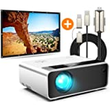 CiBest W13 Mini Projector + 3 in 1 HDMI Adapter + 100 inch Projector Screen