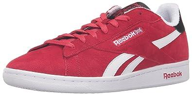 0879dbf8c930 Reebok Men s NPC UK Retro Fashion Sneaker Excellent Red White Black 8 ...