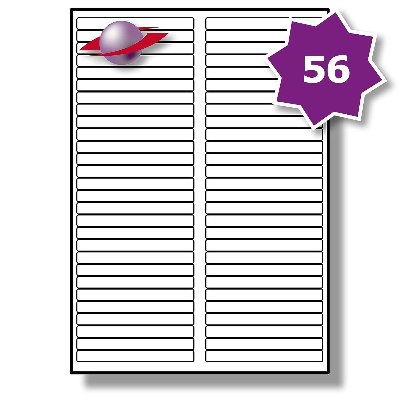 56 Par Hoja, Etiquetas 100 Hojas, 5600 Etiquetas. Label Planet® Etiquetas Hoja, de Papel Blanco A4 para Impresoras Láser y de Inyección de Tinta 89mm x 10mm, LP56/89. ad9c16