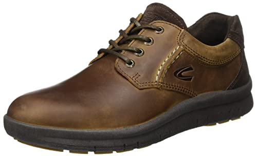 BiancoCrepe Laced Up JJA16 - Zapatos Planos con Cordones Hombre, Color Marrón, Talla 40 UE