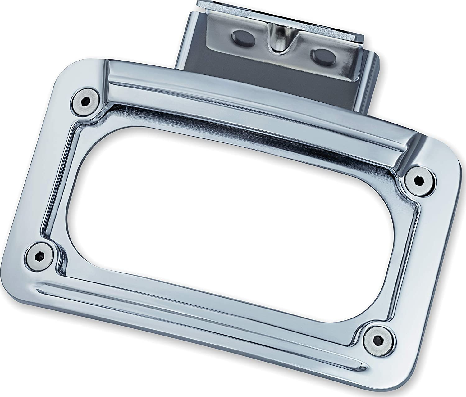 Kuryakyn 5699 Motorcycle Accent Accessory Chrome Curved License Plate Mount Holder and Frame with LED Illumination Lighting for 2014-19 Indian Motorcycles