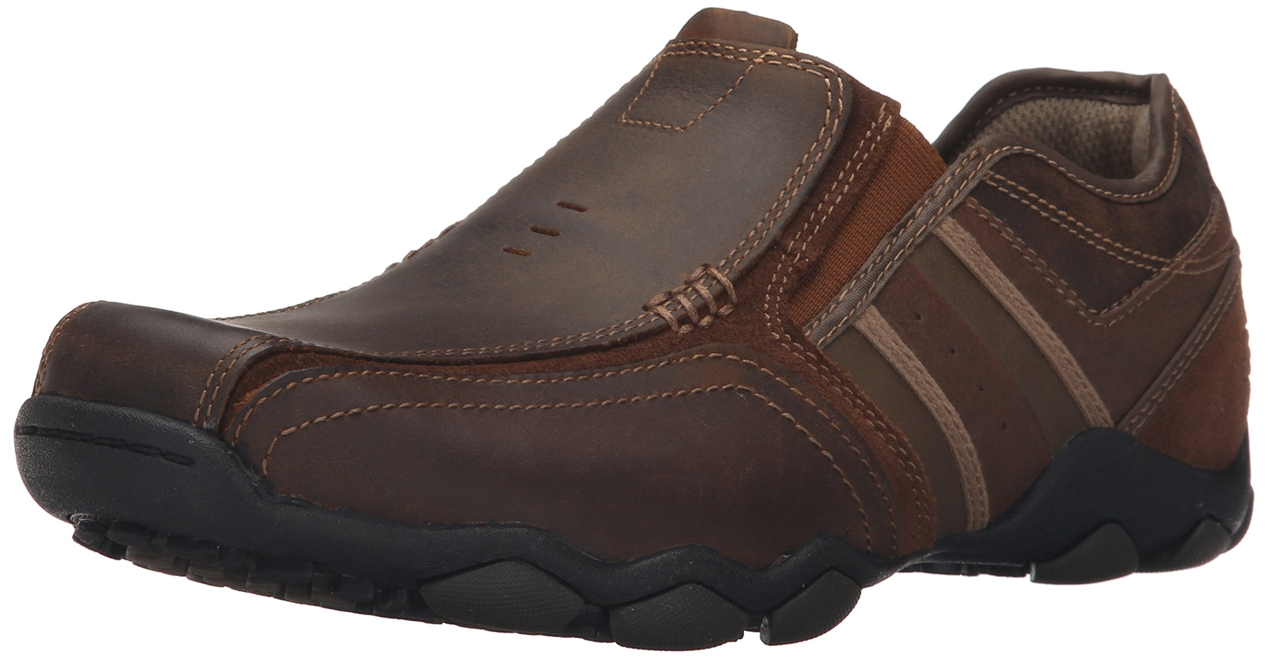 Skechers USA Men's Diameter-Zinroy Slip-On Loafer,11.5 2E US,Dark Brown