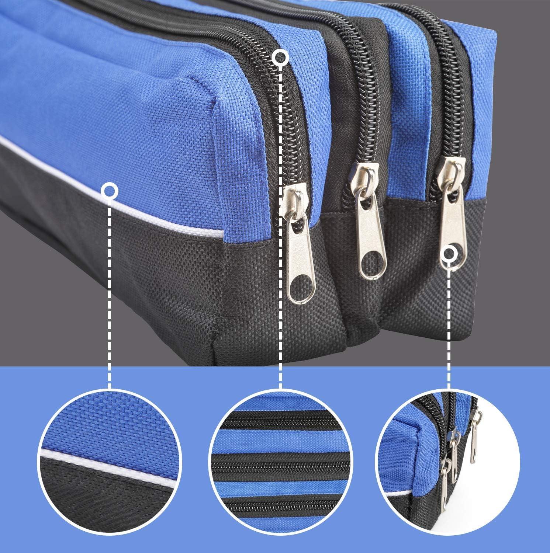 rouge Arpan Grande trousse rectangulaire 3/poches zipp/ées en tissu pour la classe ou le maquillage