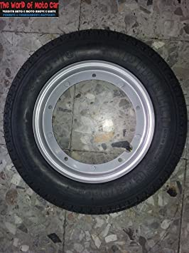 2 ruedas completas ya montadas para Vespa PX 125 150 200 con:2 llantas,