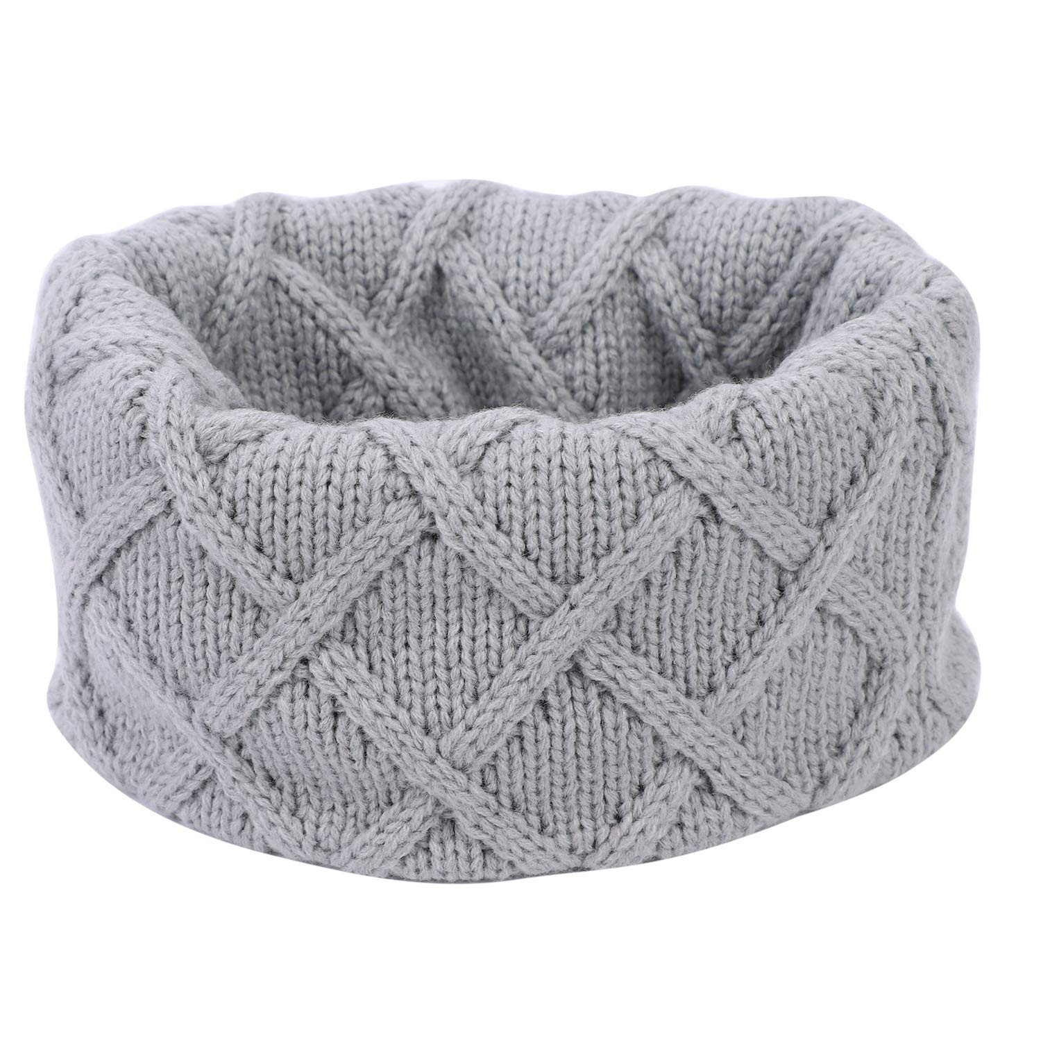 Kid Toddler Winter Infinity Scarf Warm Knit Scarf Circle Scarf Windproof Neck Warmer for 0-11 Y Boys Girls