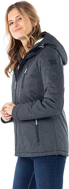 Sublevel Damen Winter-Jacke mit Fell Kapuze Sportlich