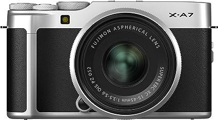 Amazon.com : Fujifilm X-A7 Mirrorless Digital Camera w/XC15-45mm F3.5-5.6 OIS PZ Lens, Silver : Camera & Photo