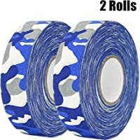 "MEZUT Hockey Tape Cloth Easy to Stretch and Tear,Athletic Sport Hockey, Baseball Tape,1"" x 27 yd (2 Rolls)"