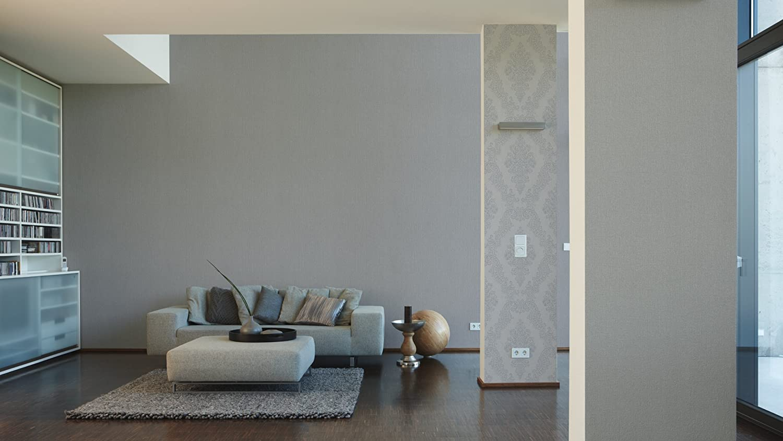 A.S. Création Vliestapete Elegance Tapete Mit Textilartiger Oberfläche  Unitapete 10,05 M X 0,53 M Grau Made In Germany 293022 2930 22: Amazon.de:  Baumarkt