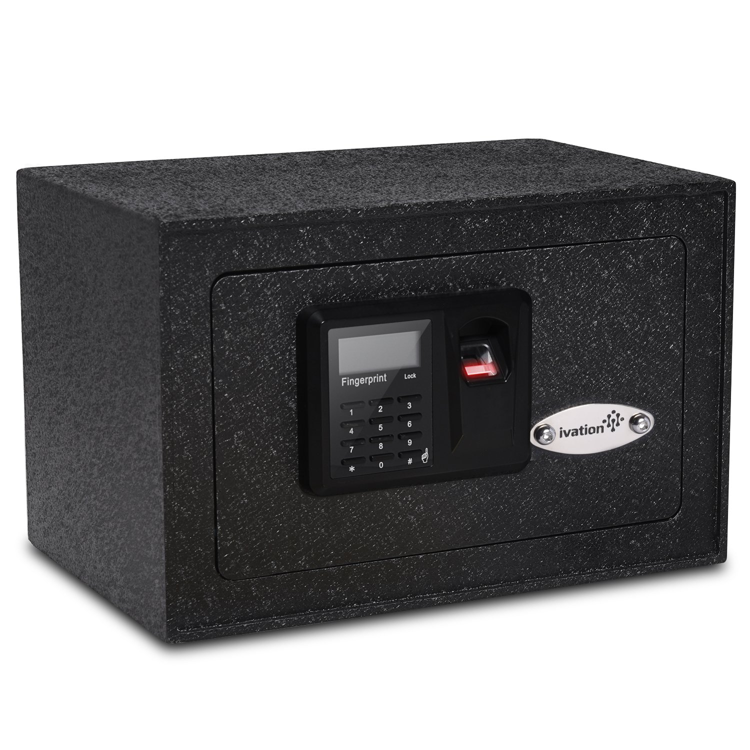 Ivation Solid Steel Biometric Personal Home Safe with Fast Access Fingerprint Recognition for Wall, Floor or Closet – Secures Jewelry, Gun, Pistol, Firearms, Money, Valuable, Collectibles & More
