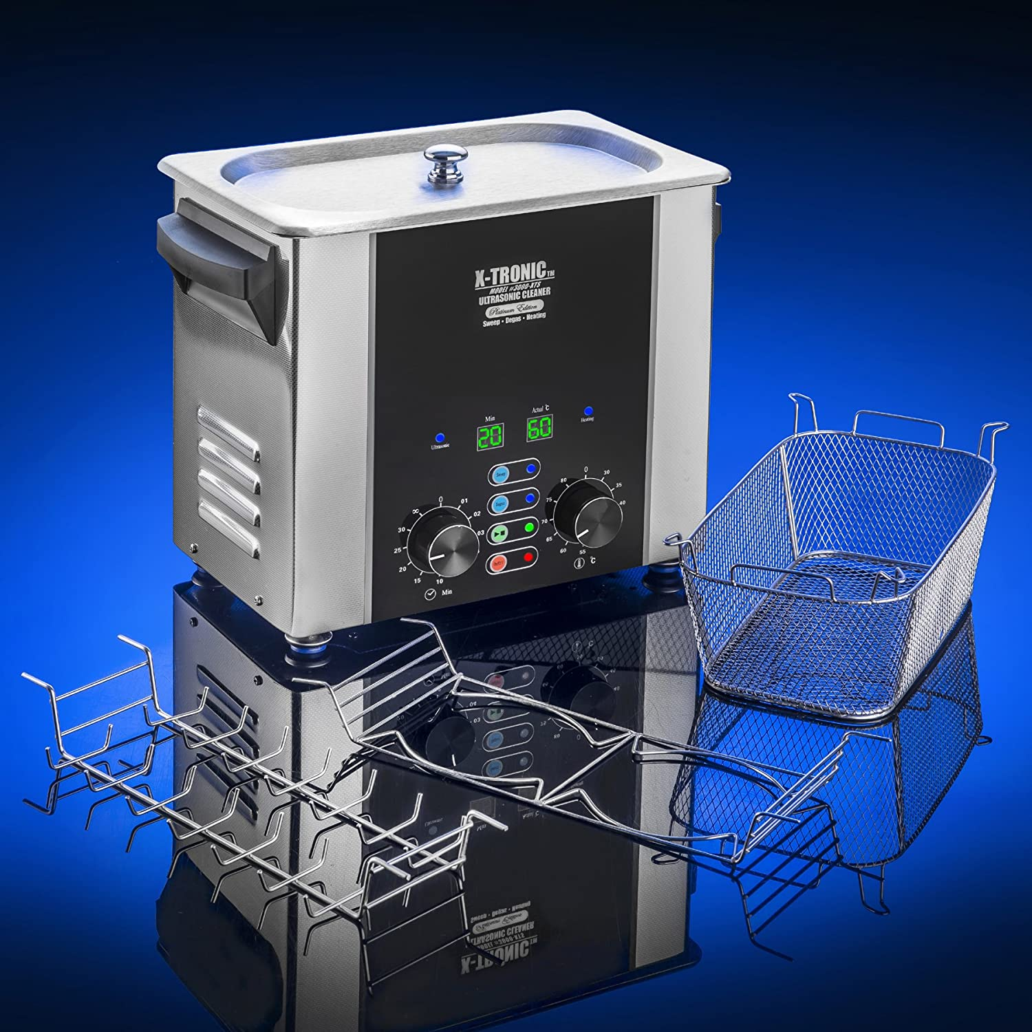 X Tronic 2 Liter 3 6 Literplatinum Edition Resistorcalculatorfreeledcalculadora Xtronic Free Electronic Stainless Commercial Ultrasonic Cleaners Time Temp Led Displays Sweep Degas S Basket