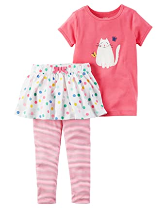 d38aaa4fd Amazon.com: Carter's Girls' 2T-5T 2-Piece Tee And Tutu Pants Set ...