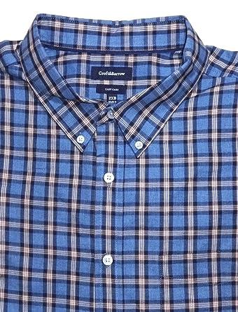 6c539a8acb56 Croft   Barrow Mens Classic Fit Easy Care Casual Shirt Blue Plaid (2XB (XXB
