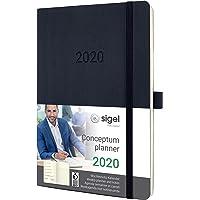 SIGEL C2024 Wochen-Notizkalender 2020, ca. A5, schwarz, Softcover Conceptum - weitere Modelle