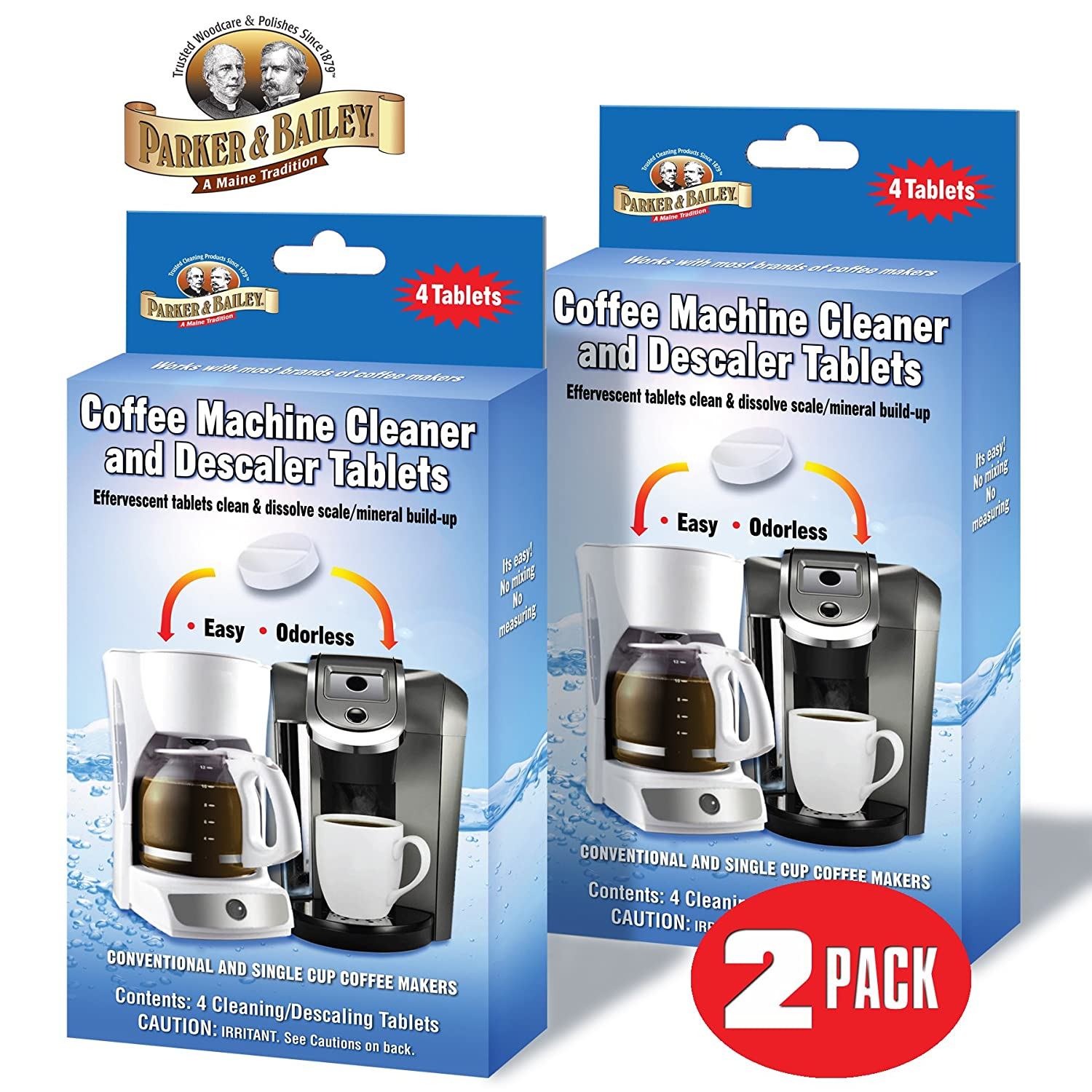 Parker Bailey Coffee Machine Cleaner Descaler Tablets
