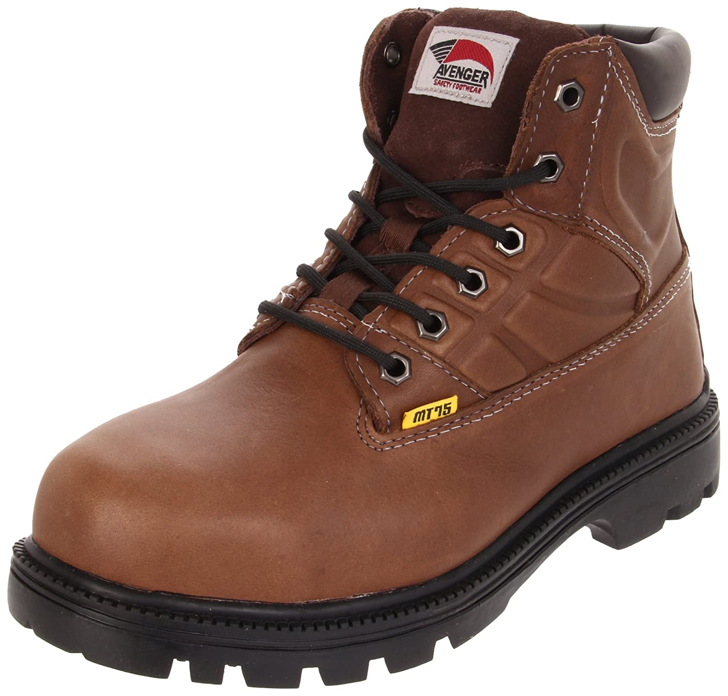 Avenger Safety FootwearメンズMet Guard Boot B005BKDBUA 12 2E US|ブラウン ブラウン 12 2E US