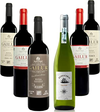 Pack de 6 botellas mixtas (Rioja, Rioja Alavesa y Txakoli): Amazon.es: Alimentación y bebidas