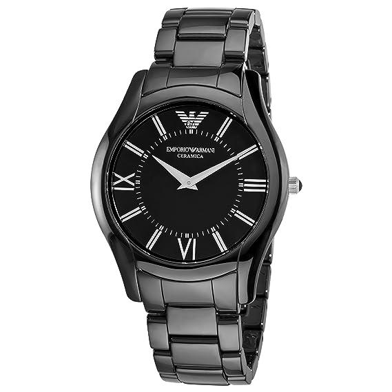 Emporio Armani Ceramic - Reloj (Reloj de Pulsera, Masculino, Cerámico, Negro,