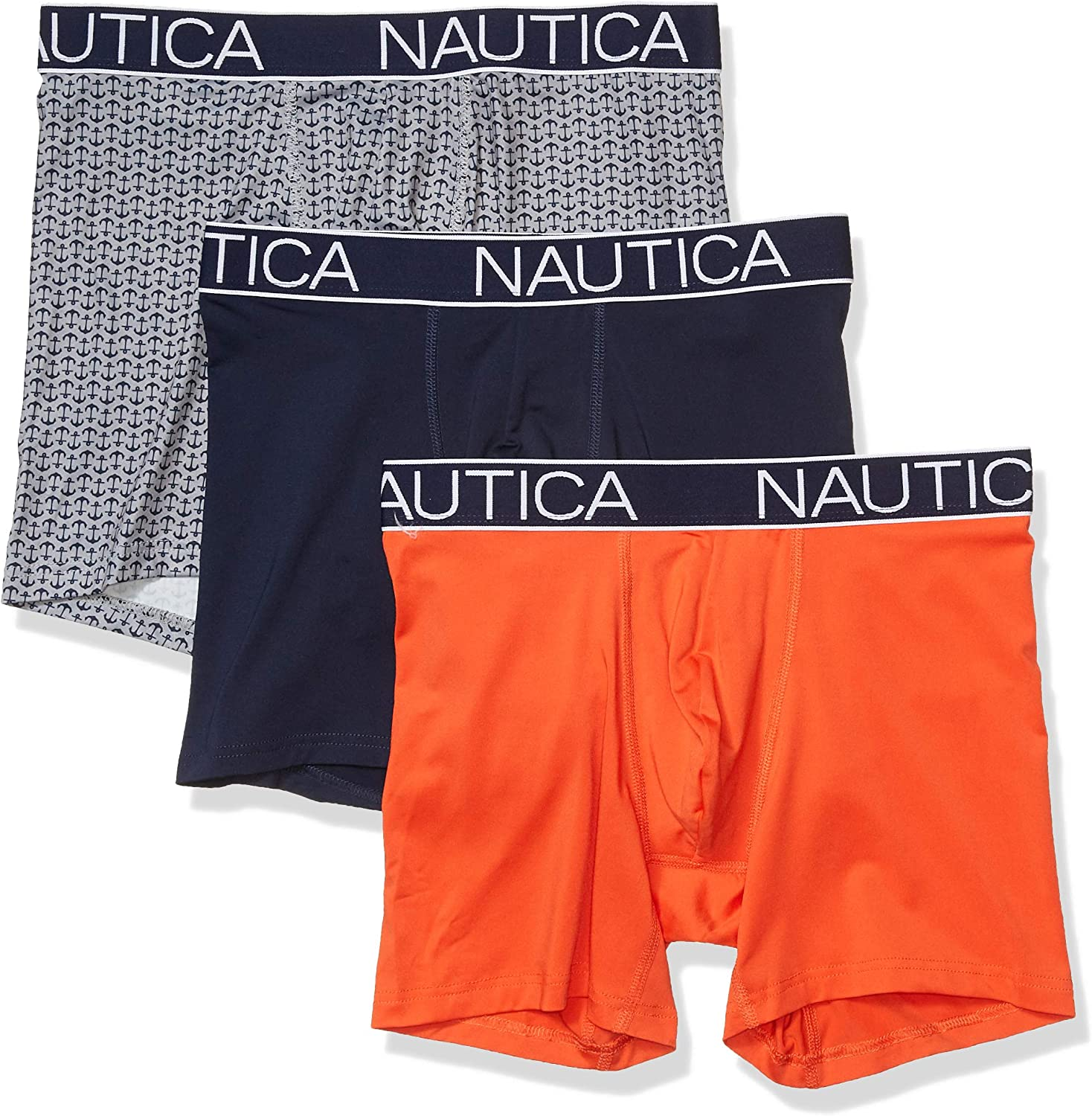 Nautica Men's Brushed Poly 3 Pack Boxer Brief