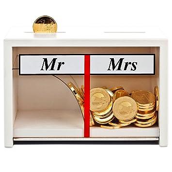 Spardose Mr U0026 Mrs Weiß U2013 Lustige Geldgeschenke Fürs Brautpaar U2013  Hochzeitsspardose Deko Holz U2013 Persönliche