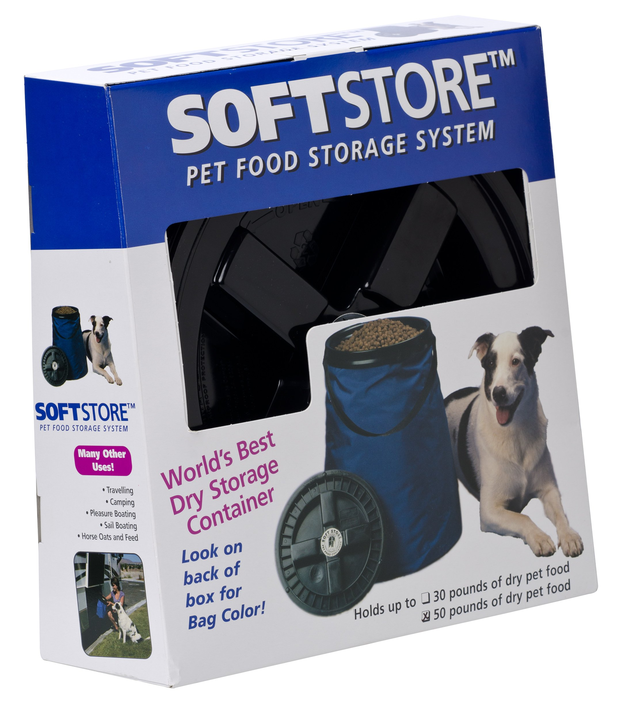 Vittles Vault SoftStore Collapsible, Airtight Pet Food Container 50 Pound Capacity, Blue by Vittles Vault (Image #5)