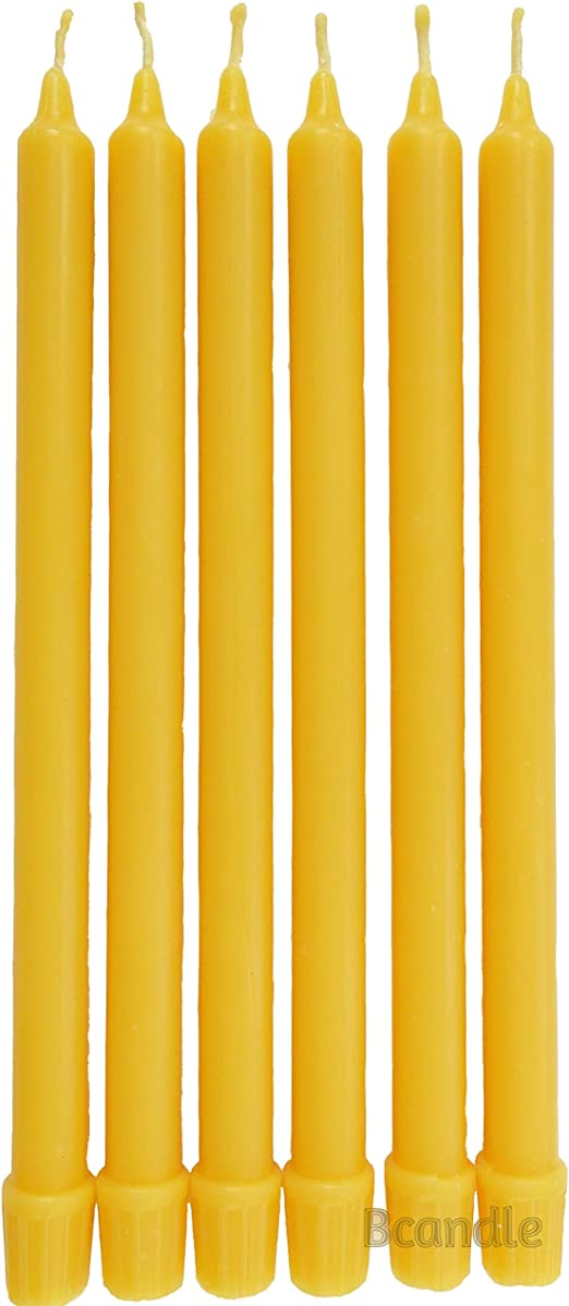 """5//8 /"""" Thick 100/% Beeswax Taper Candles Organic set of 12 in Box 11/"""" Tall"""
