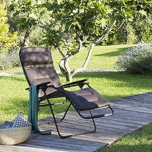 Relaxliege Lafuma Futura XL Stahl/Air Comfort® Schwarz/taupe