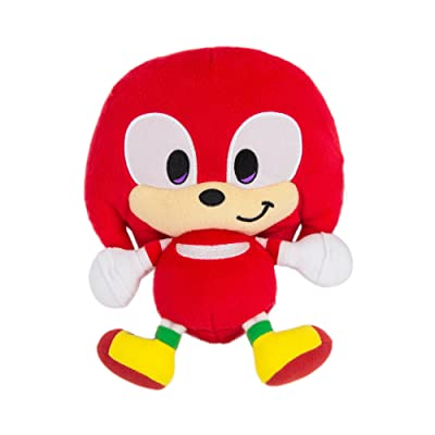 Sonic Emoji Plush, Happy Knuckles, Red: Toys & Games