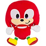 Sonic Emoji Happy Knuckles Plush, Red, 1-8
