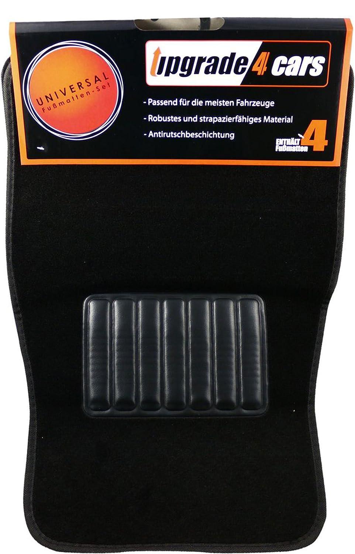 Automotive Accessories Interior upgrade4cars Universal Car Mats Black Set of Non Slip Auto Floor Carpet Mat