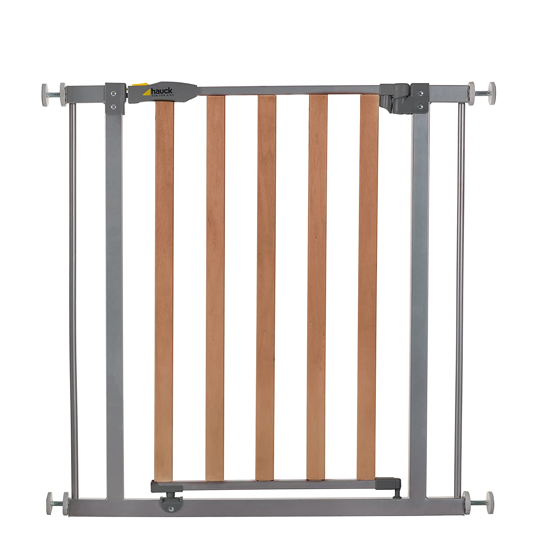 Hauck Wood Lock Treppen- / Tür- schutzgitter aus Holz und Metall für ...