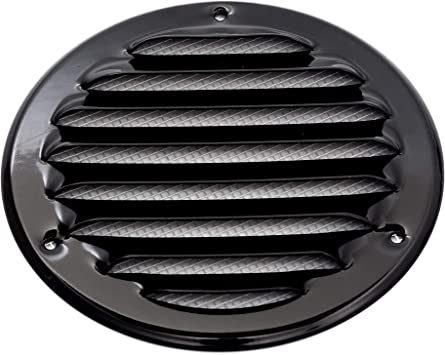 Home Office HVAC Vents for Bathroom Vent Systems Soffit Vent Cover Kitchen 4 Inch Brown Grill Cover Built-in Insect Screen Round Air Vent Louver