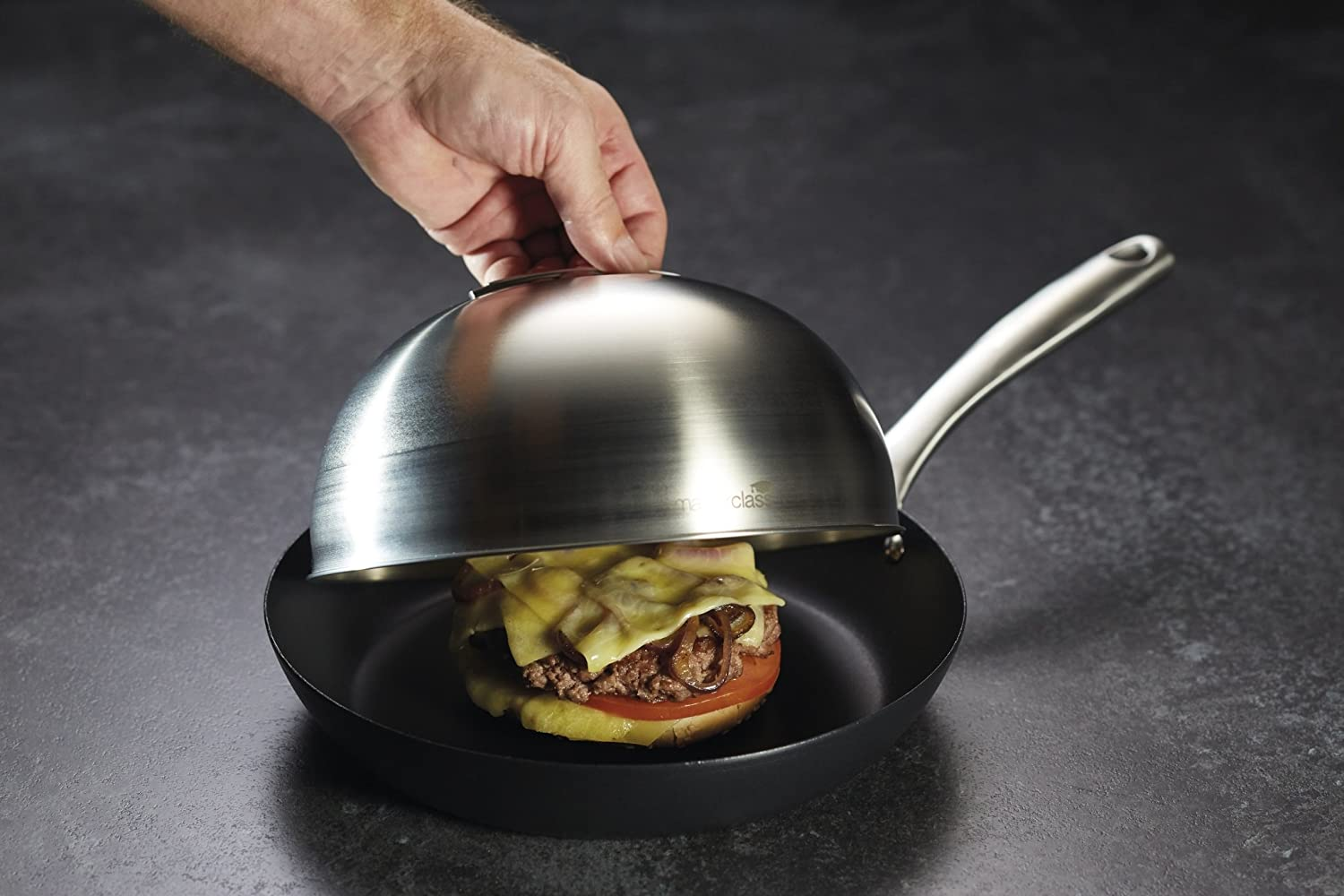 Master Class Cheese Melting Dome  Burger Steaming Lid 51h x 86 w