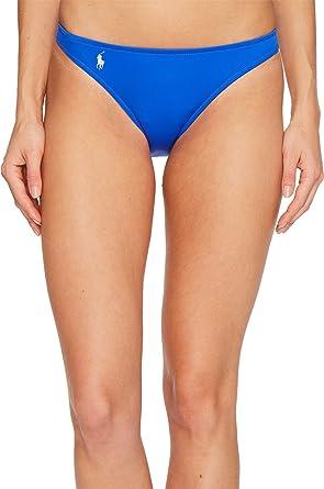 d14b8ee2a59d4 Polo Ralph Lauren Womens Modern Solids Taylor Hipster Bikini Bottom Blue XS  One Size