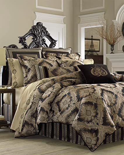 58ceb8c275 Amazon.com: J Queen Onyx Comforter Collection, Euro Sham: Home & Kitchen