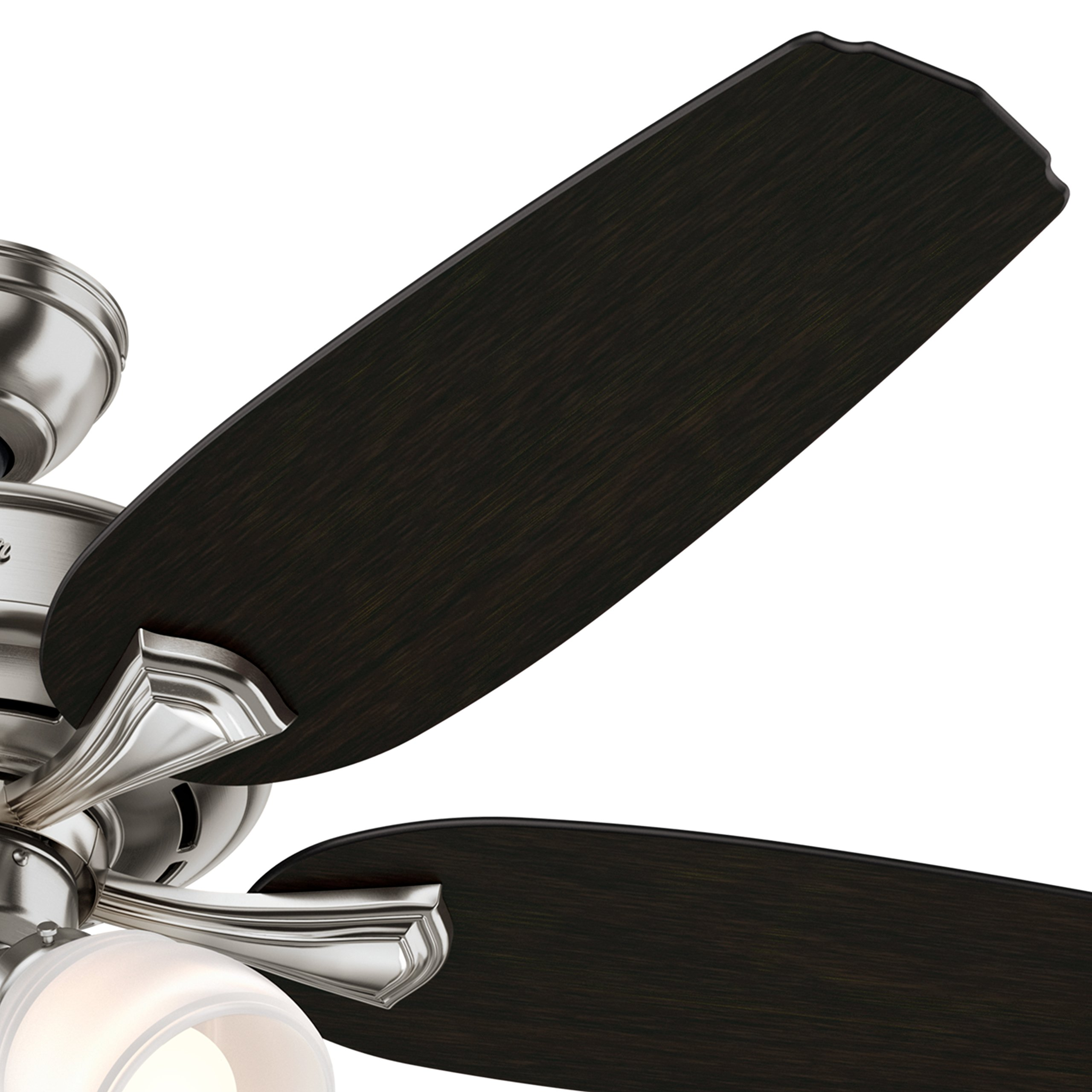 Hunter 52 in. Ceiling Fan with 4 LED Lights in Brushed Nickel (Certified Refurbished) by Hunter Fan Company (Image #5)